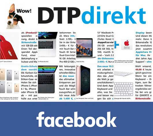 Der DTPdirekt Facebook Channel.